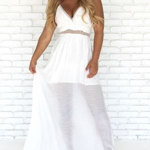 Seascape Crochet Maxi Dress